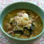 冬ネギと鶏もも肉の味噌煮